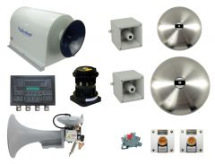 Combined Air and Electric Heated Horn System, Complete Scope of Supply, Class 2 Vessel 100-200 Meters, (328-656 Ft.)