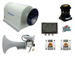 Combined Air and Electric Heated Horn System, Complete Scope of Supply, Class 2 Vessel 75-100 Meters, (246-328 Ft.)