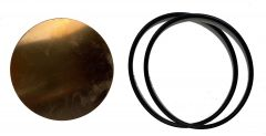 "P028-25 Repair Kit, 2.678"" Dia. x .025"" Diaphragm, ""Zero Series"" (2011-Current) including (1) P028-25 Diaphragm, (2) P321-17 2-11/16"" O-Rings.  One diaphragm kit per horn body, Items 4 and 5 per Drawing 3-6240-A."